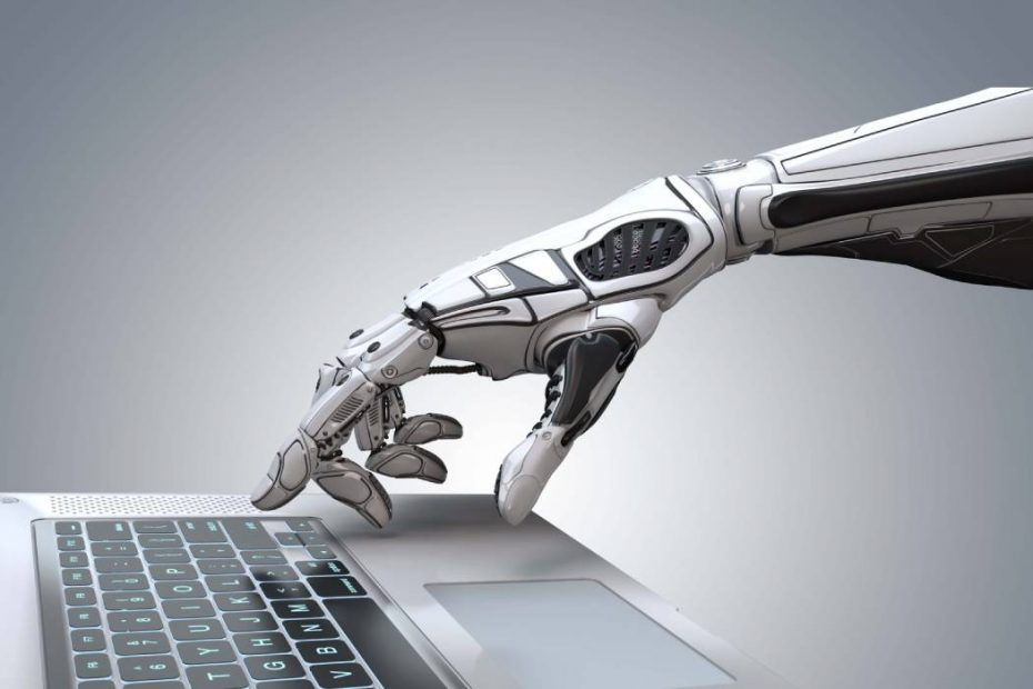 robotic arm typing